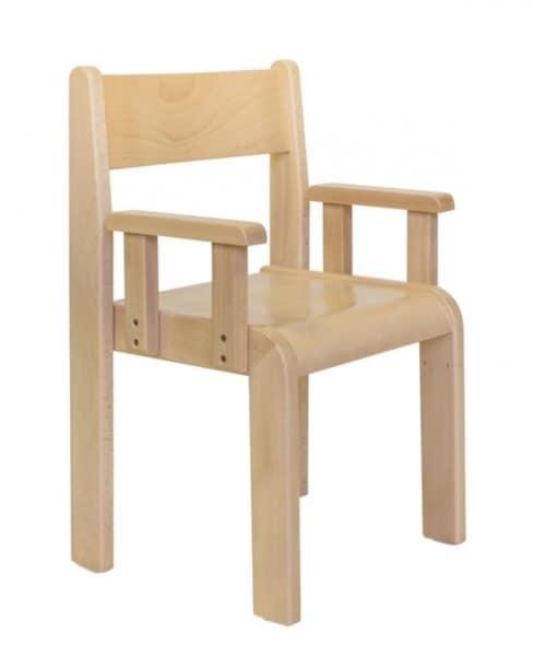MINNIE/B, Sedia con braccioli, in faggio, per asili e camerette