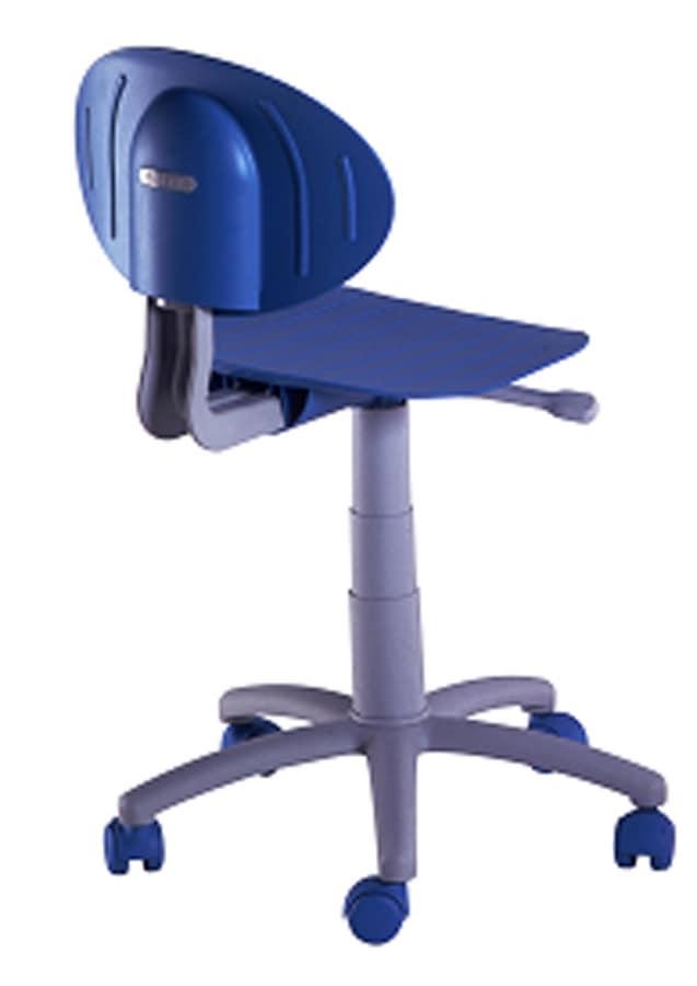Colorata sedia per cameretta ragazzi, con ruote | IDFdesign