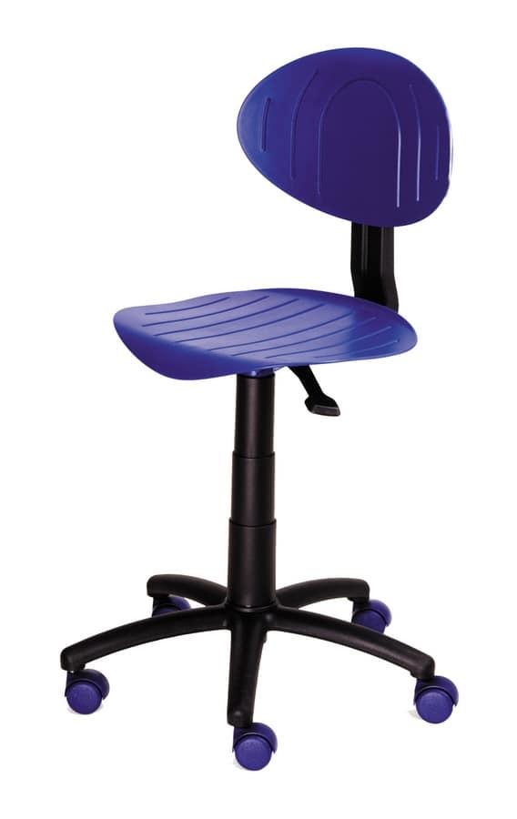 Colorata sedia per cameretta ragazzi, con ruote   IDFdesign