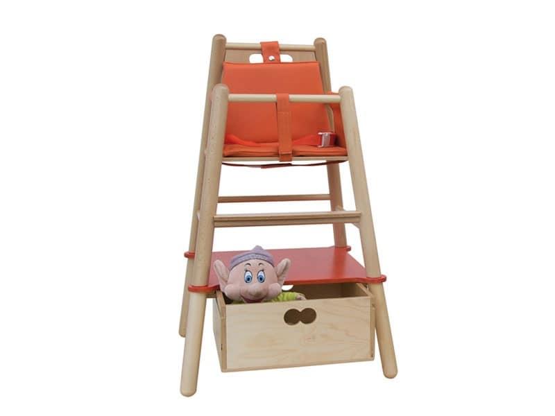 Sedie A Dondolo In Legno Per Bambini : Seggiolone per bambini struttura in legno di faggio idfdesign