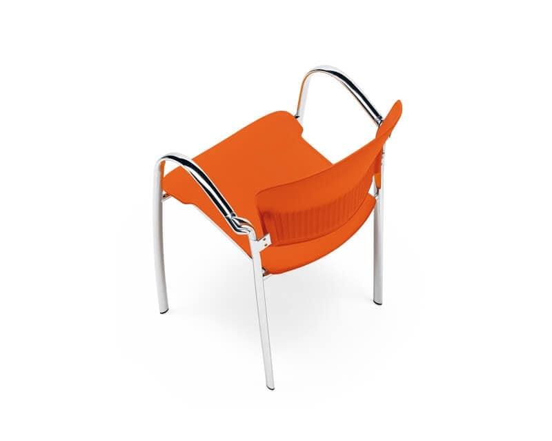 Cameo, Sedia moderna, seduta in copolimero, per uffici e sale attesa