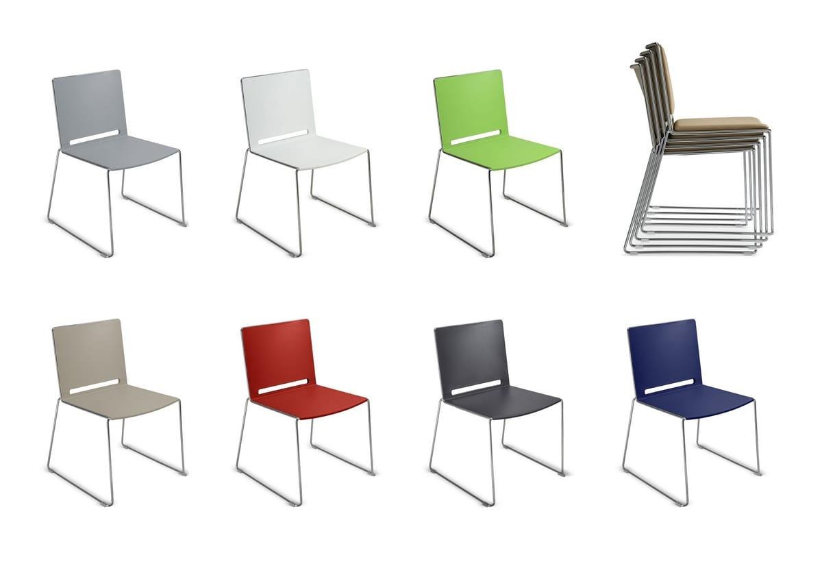 Sedie In Metallo E Plastica : Sedia in metallo e plastica impilabile per congresso idfdesign