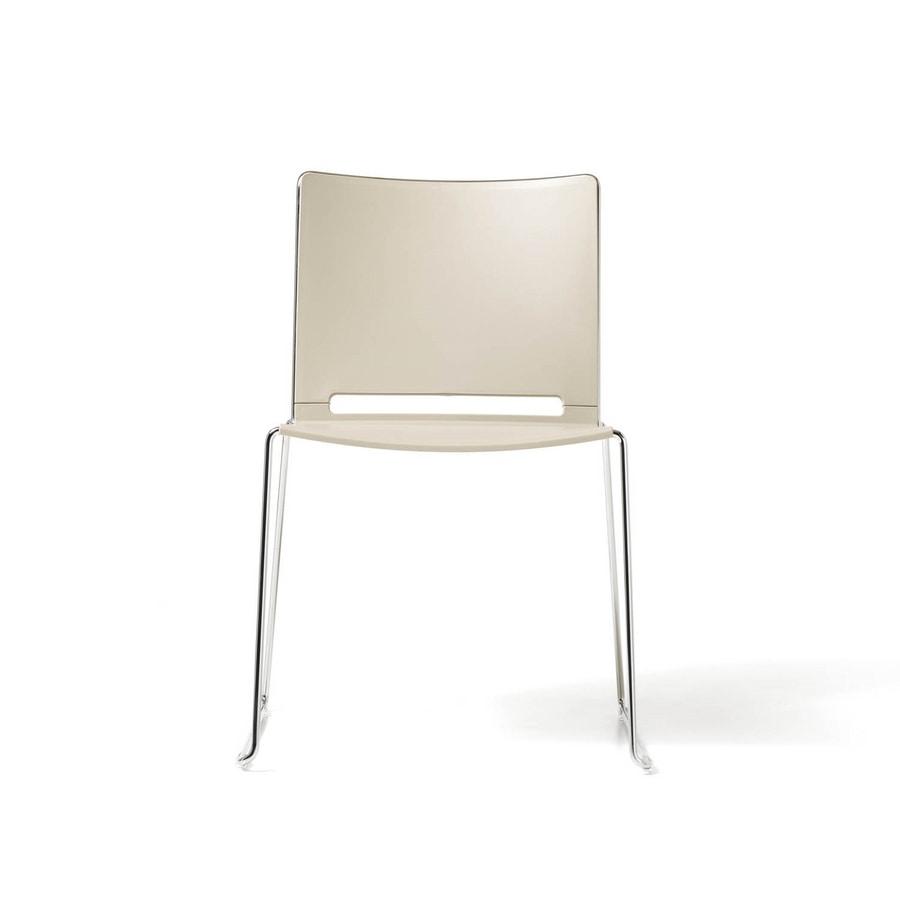 Sedia impilabile per sale conferenza, in polipropilene  IDFdesign