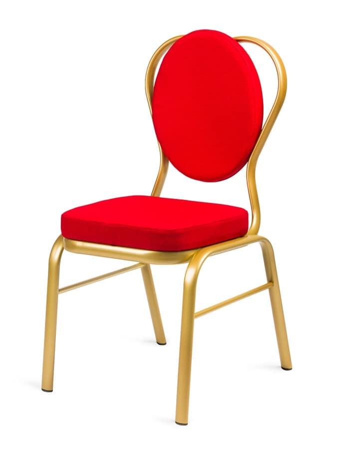 Sedia Imbottita Con Schienale Ovale Per Sale Conferenza