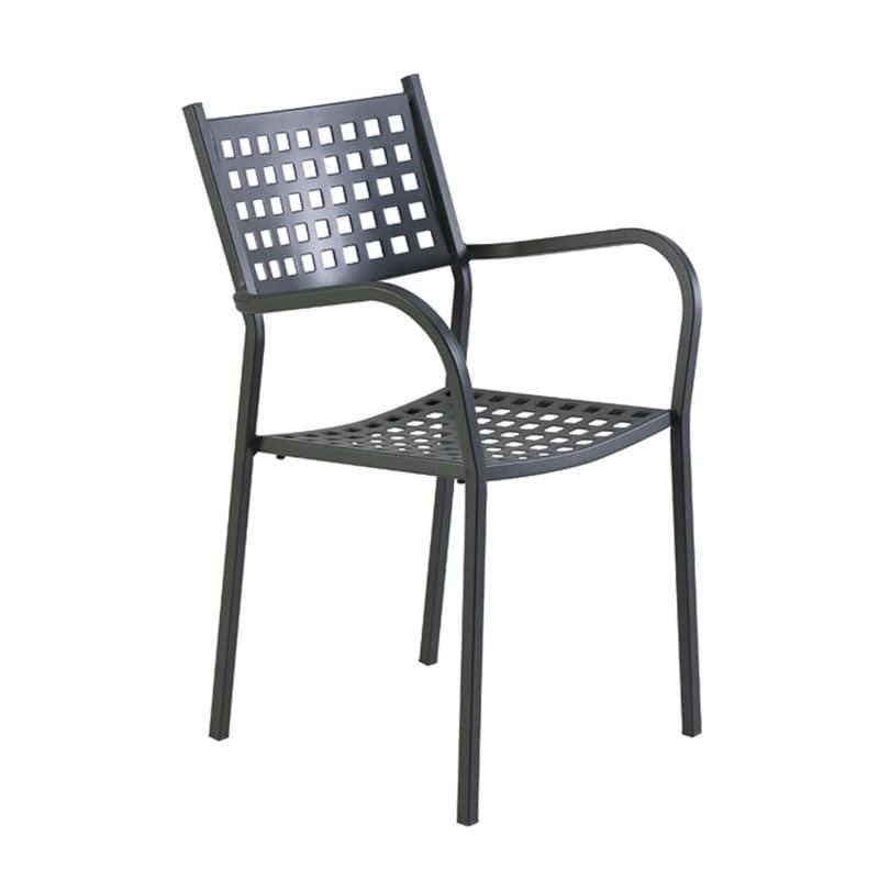 Sedia in ferro zincato in vari colori per giardino for Sedie giardino esterno