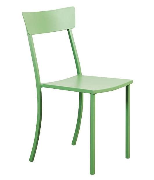 sedia in ferro zincato per esterni idfdesign