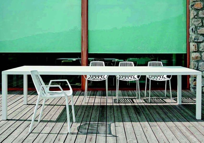 9607 Rion, Sedia con braccioli, in metallo, per esterni
