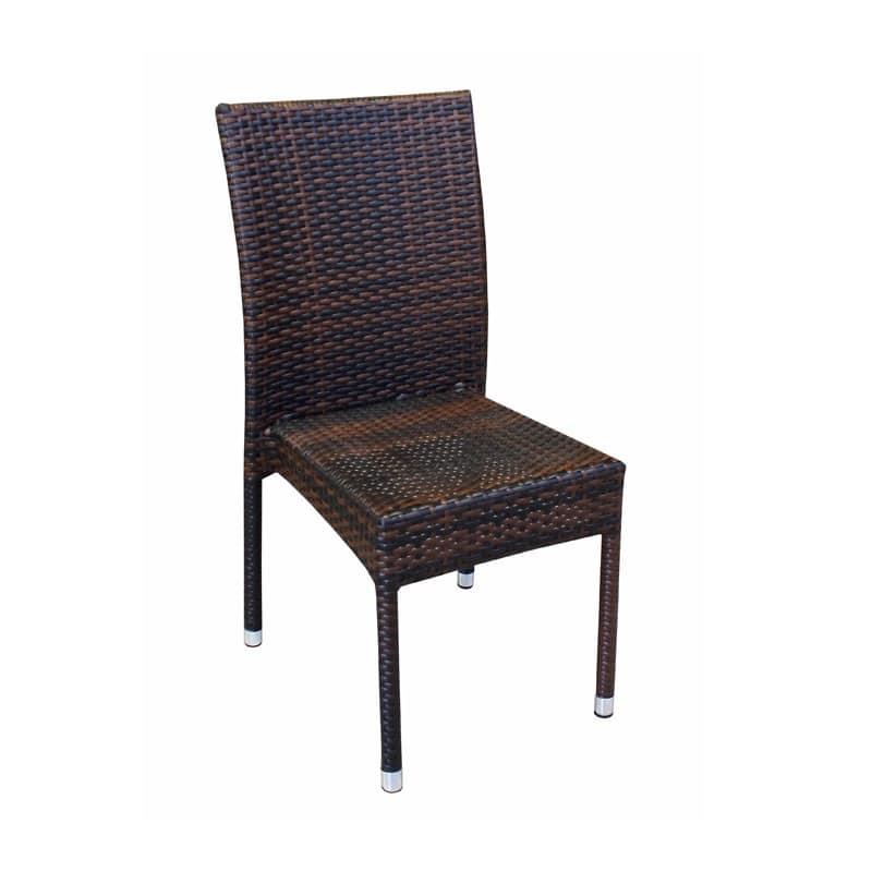 Sedie Intrecciate In Plastica.Sedia Intrecciata Per Esterno Impilabile Struttura In Alluminio