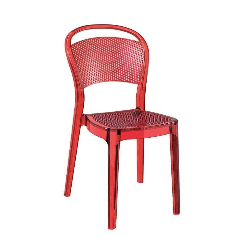 Sedia plastica impilabile resistente ai graffi pizzeria idfdesign - Sedie plastica design ...