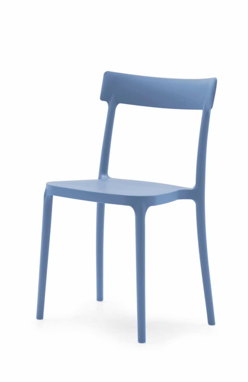 Sedia moderna in polipropilene, anti-macchia | IDFdesign
