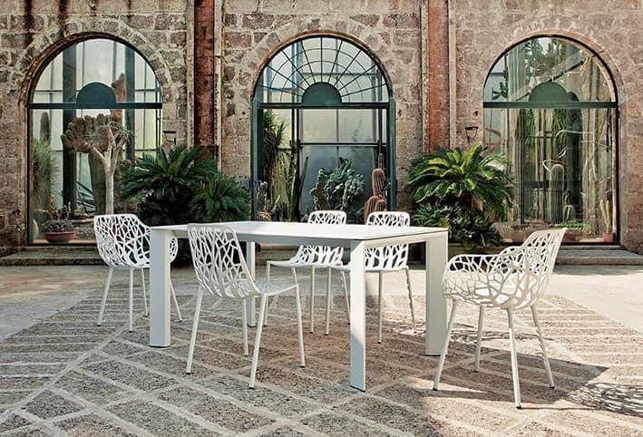 Forest 6501 Sedia, Sedia in alluminio verniciato, ideale per bar all'aperto