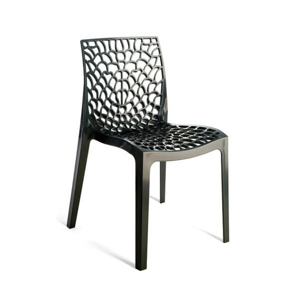 Sedia in policarbonato stampata ad iniezione per esterno - Sedie esterno design ...