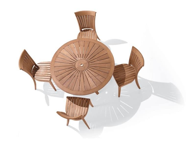 Harmony sedia, Sedia con schienale a doghe verticali, per esterno