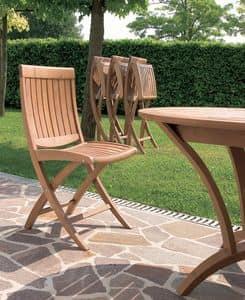 Harmony sedia pieghevole, Sedia pieghevole in legno, per uso esterno