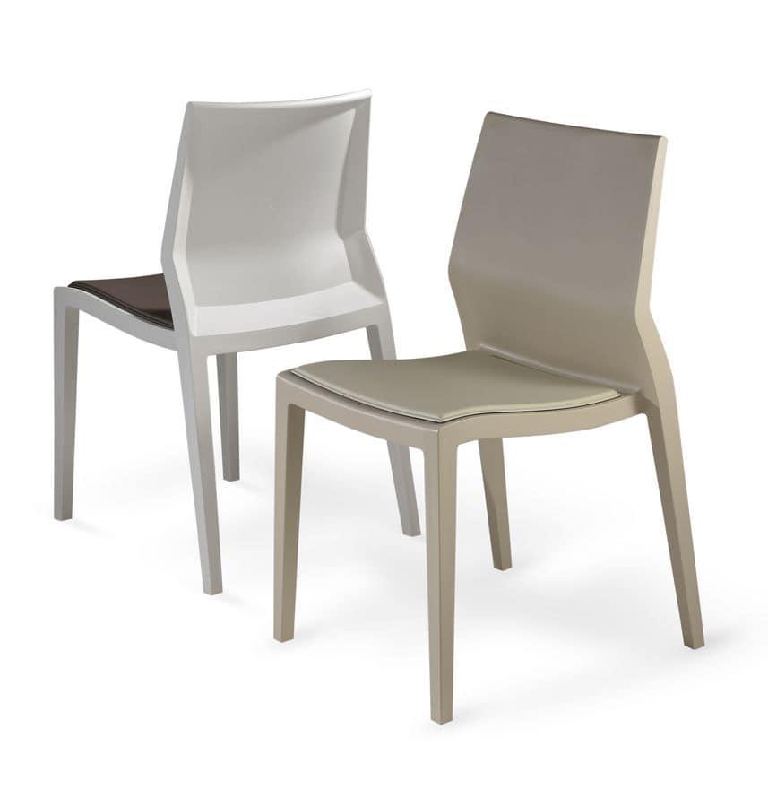 Sedia indistruttibile per esterni con cuscini removibili for Sedia design usata