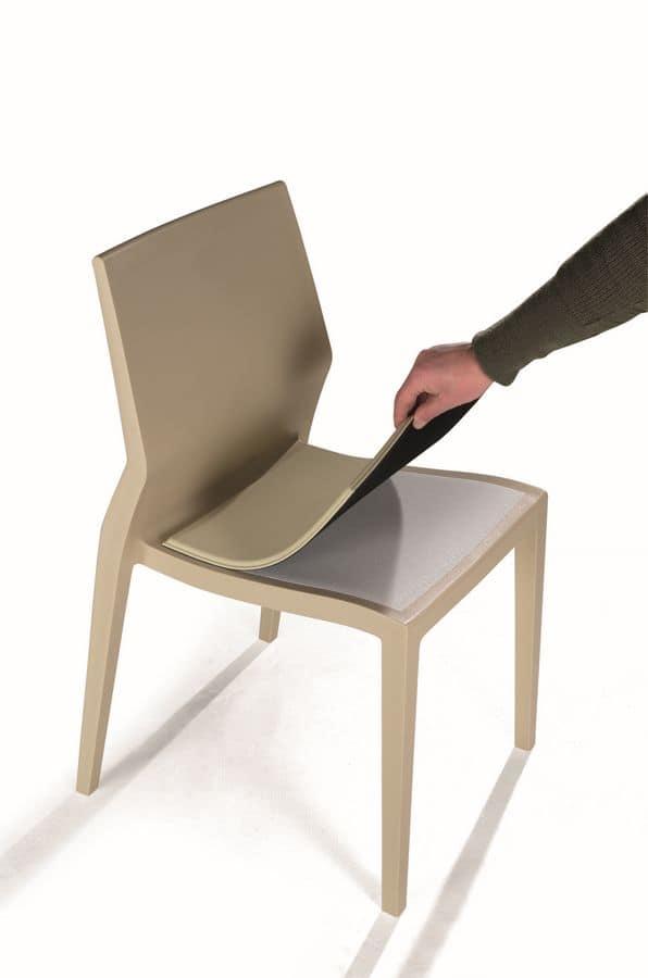 Sedia indistruttibile per esterni con cuscini removibili idfdesign - Cuscini per sedie da cucina ...