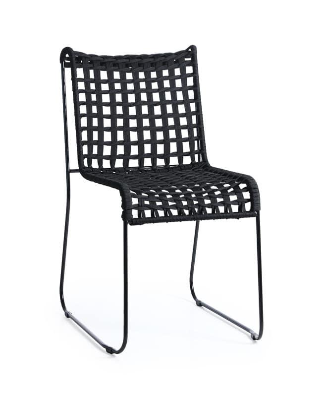 Sedie Intrecciate In Plastica.Sedia In Metallo Seduta In Corda Intrecciata Per Interni Ed