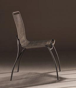 In&Out, Sedia con seduta e schienale in corda trattata per esterno