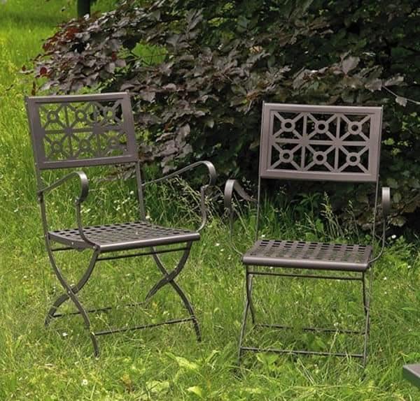 Isotta/P, Sedia pieghevole in acciaio, per giardino