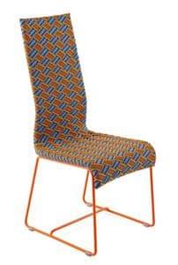 Kente sedia, Sedia con schienale alto, intrecciata a mano, per esterni