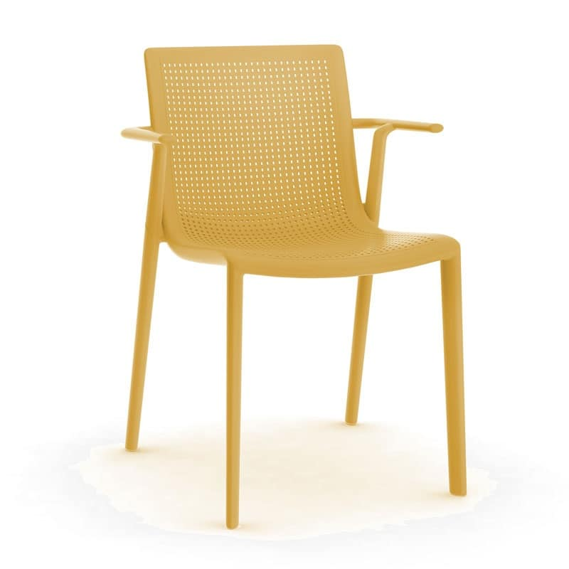 Kirama - P, Sedia con braccioli, impilabile, in polipropilene, per bar