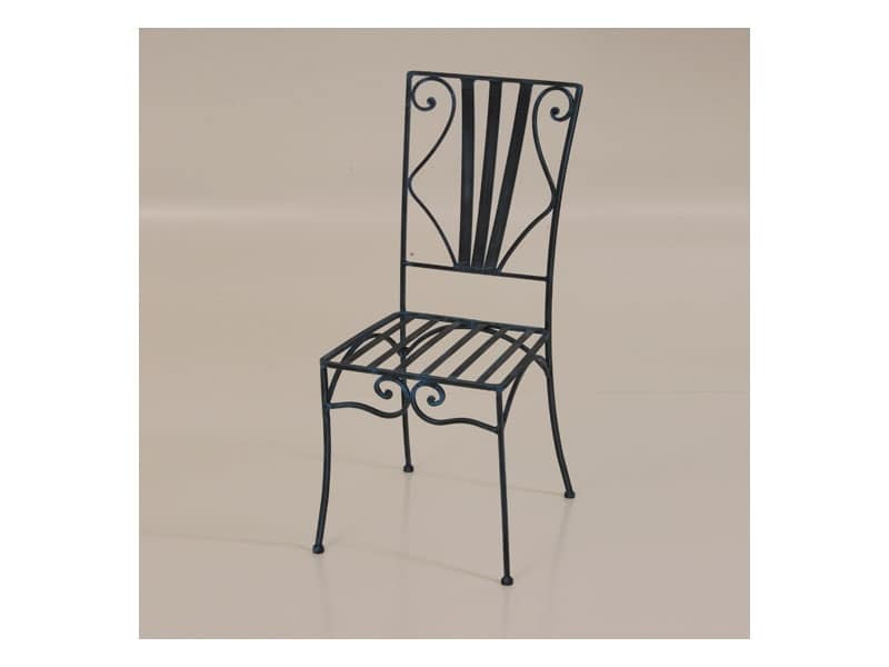Sedie In Ferro Battuto Pieghevoli : Sedia per esterno in ferro battuto idfdesign