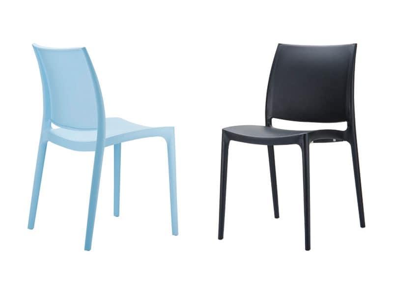 Sedie Per Esterno Plastica.Sedia Impilabile In Plastica Per Alberghi Ristoranti E Bar