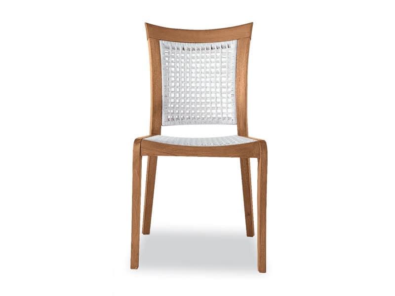 Mirage sedia - polipropilene, Sedia in legno e polipropilene, per esterni