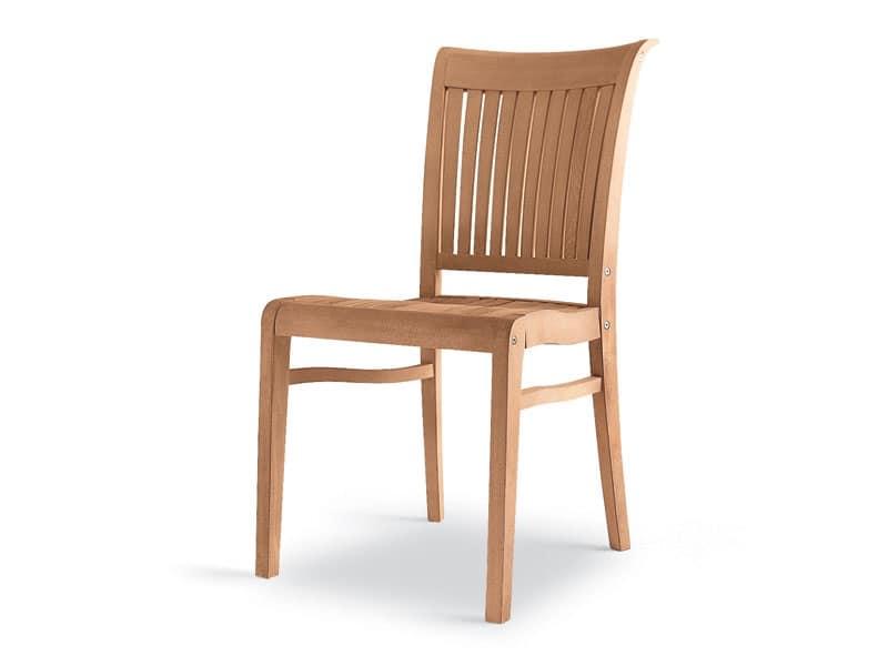 Sedie In Legno Giardino.Sedia In Legno Robusta Ed Elegante Per Esterni Idfdesign