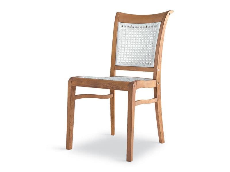 Sedia ergonomica in legno e polipropilene per esterni for Sedia ergonomica