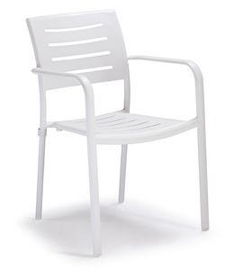 PL 450, Sedia impilabile in alluminio per giardini