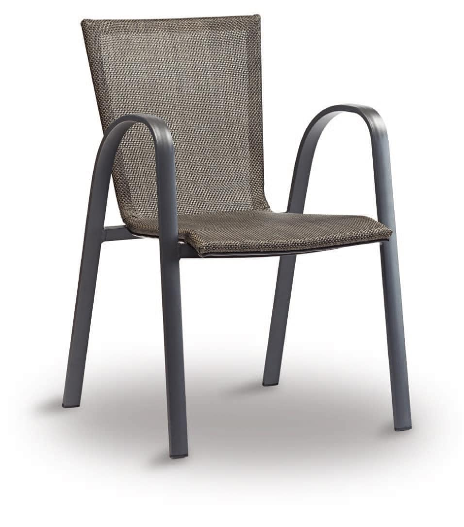Sedia in alluminio e textilene per bar e ristoranti for Sedie per ristoranti