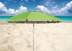 Ombrellone spiaggia mare Roma � RO220UVA, Ombrellone con fusto in alluminio ideale per le spiaggie