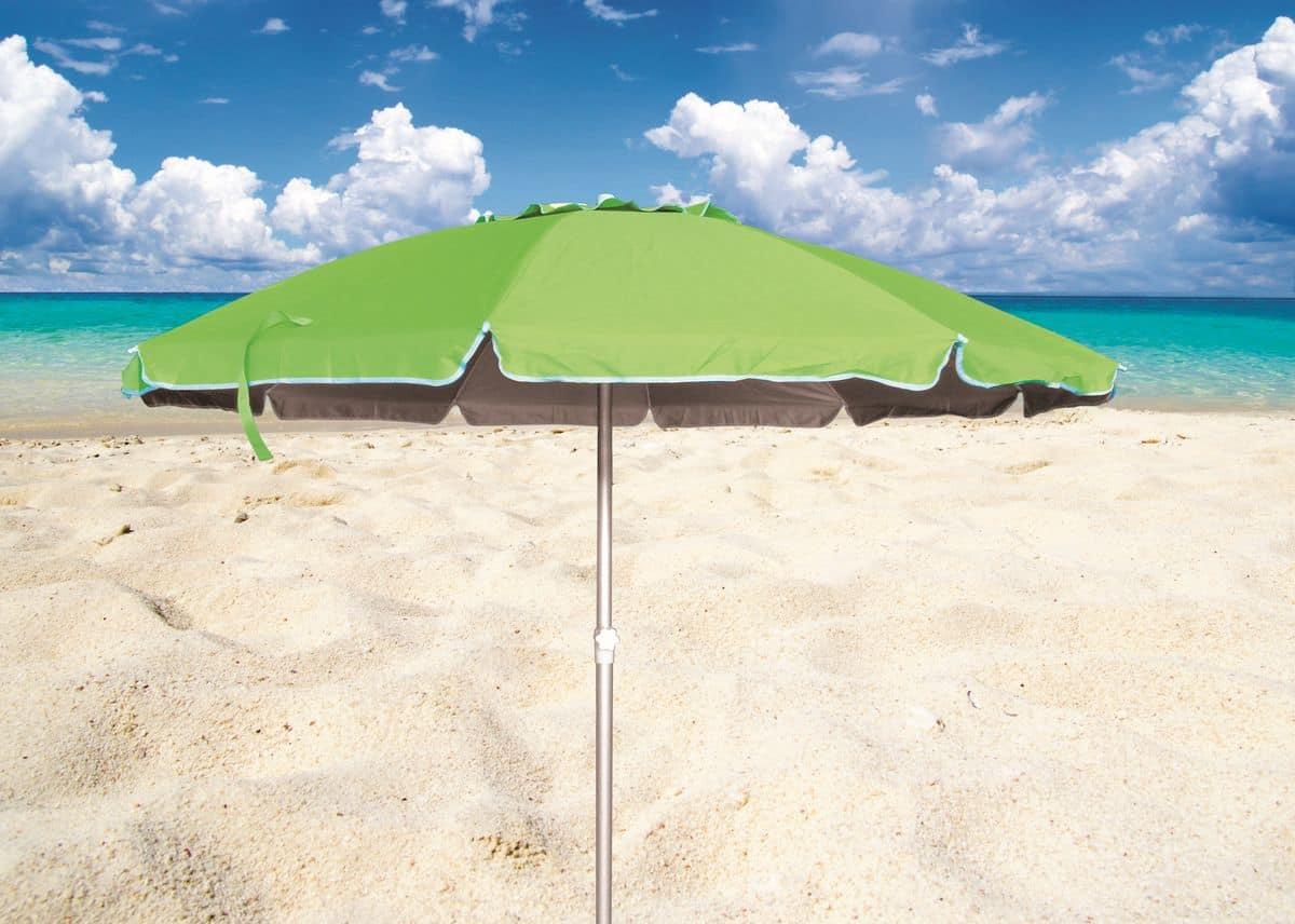 732e07aeaa8e Ombrellone spiaggia mare Roma – RO220UVA, Ombrellone con fusto in alluminio  ideale per le spiaggie