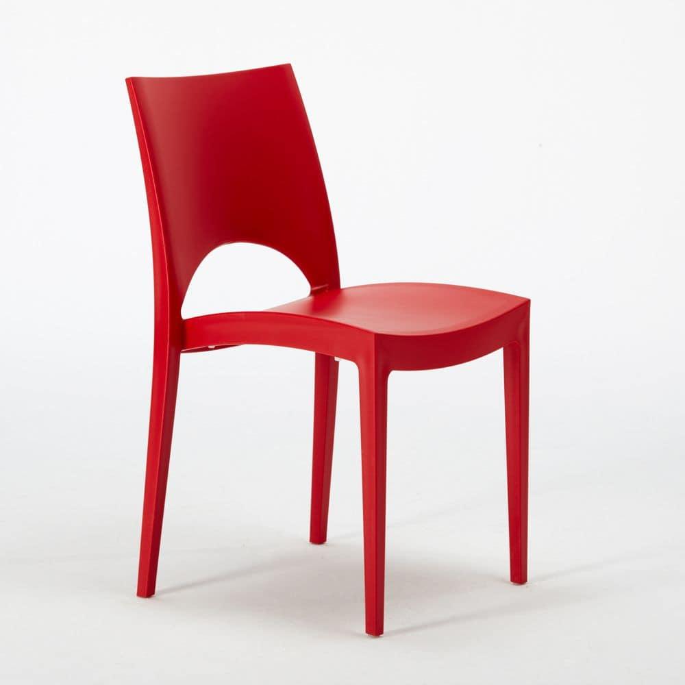 Sedia in plastica, economica, per interni e esterni | IDFdesign