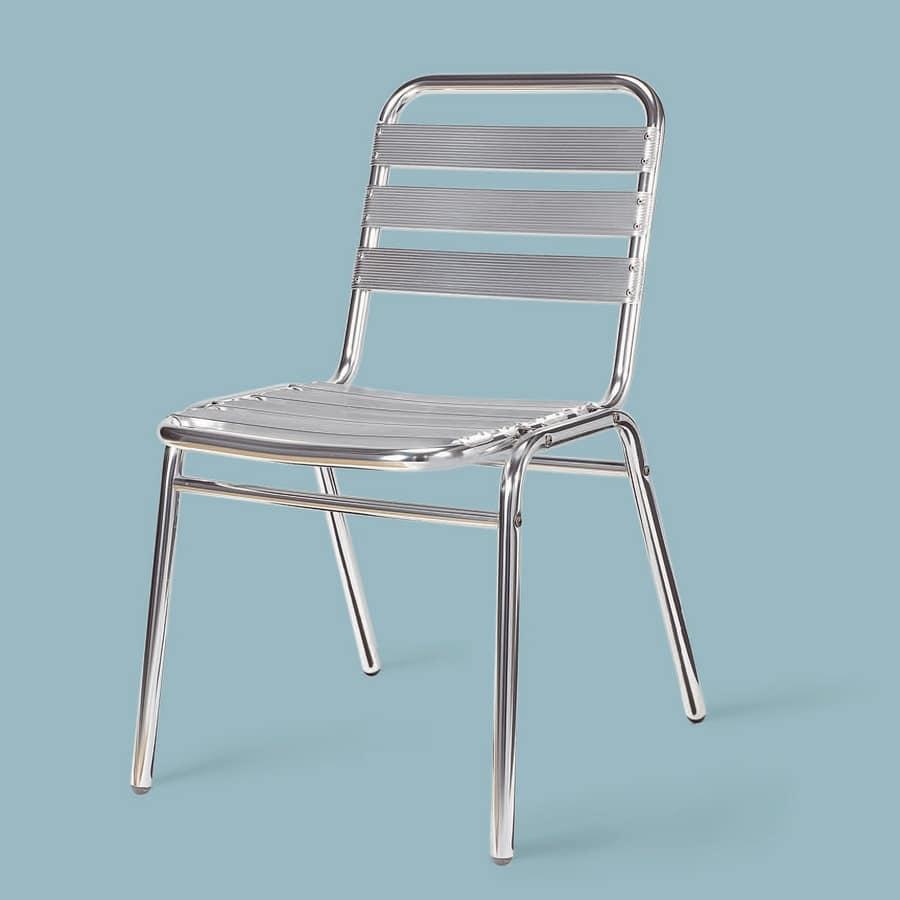 SE 060, Sedia in alluminio lucido, per esterno
