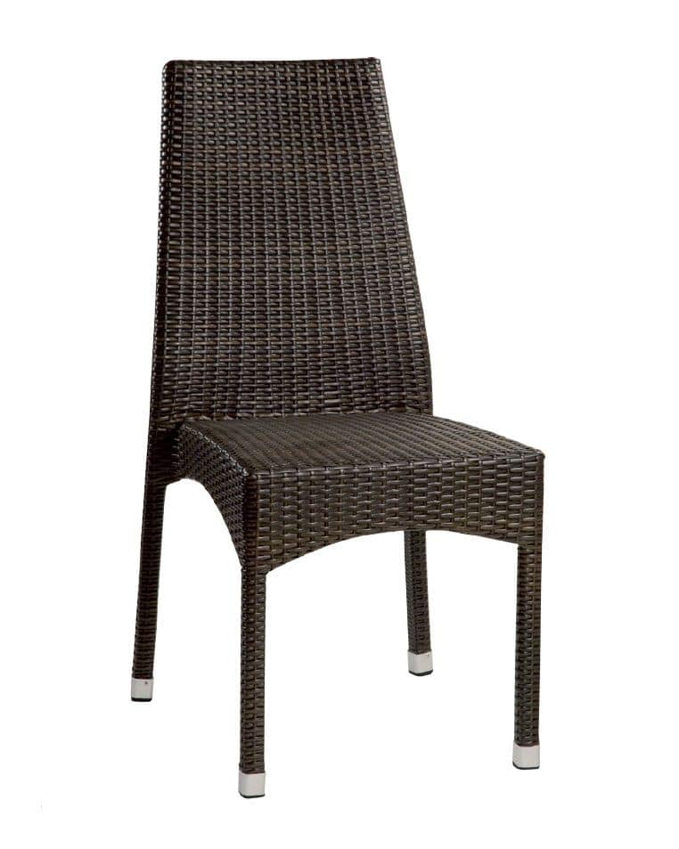 SE 773, Sedia intrecciata per esterno, piedini in alluminio