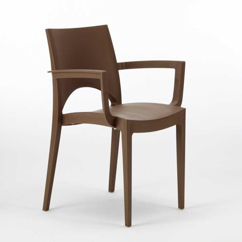 Sedia esterno impilabile grand soleil Paris Arm – S6614, Sedia in plastica, per bar e ristoranti all'aperto