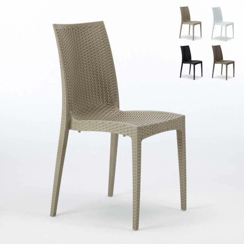 Sedie Plastica Giardino Roma.Sedia In Rattan Intrecciato Impilabile Certificata En Idfdesign