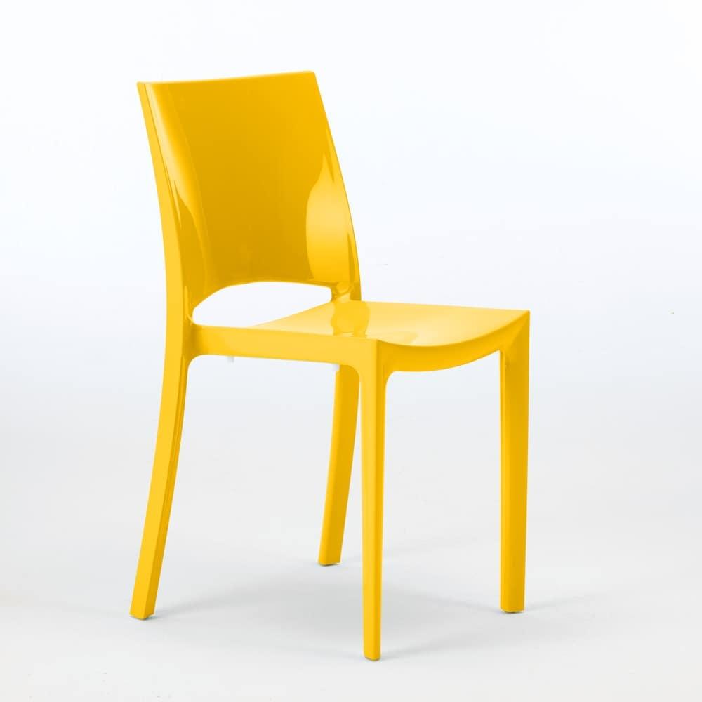 Sedia impilabile in polipropilene, certificata, per esterni   IDFdesign