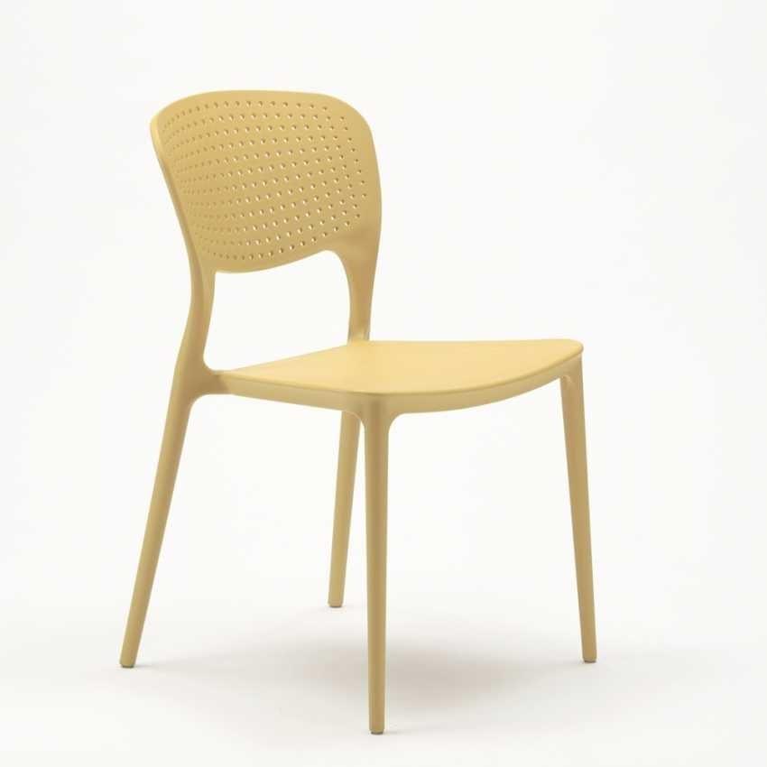 Sedie cucina bar polipropilene impilabile esterno interno GARDEN GIULIETTA - SG689PP, Sedia impilabile e resistente per esterno