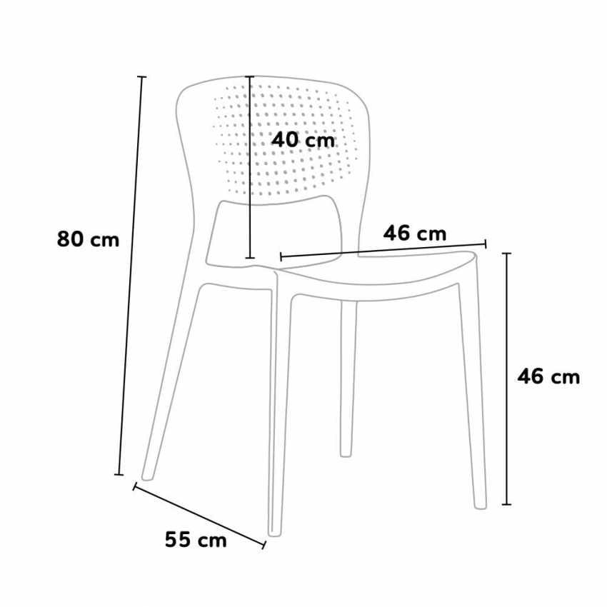 Sedia impilabile e resistente per esterno | IDFdesign