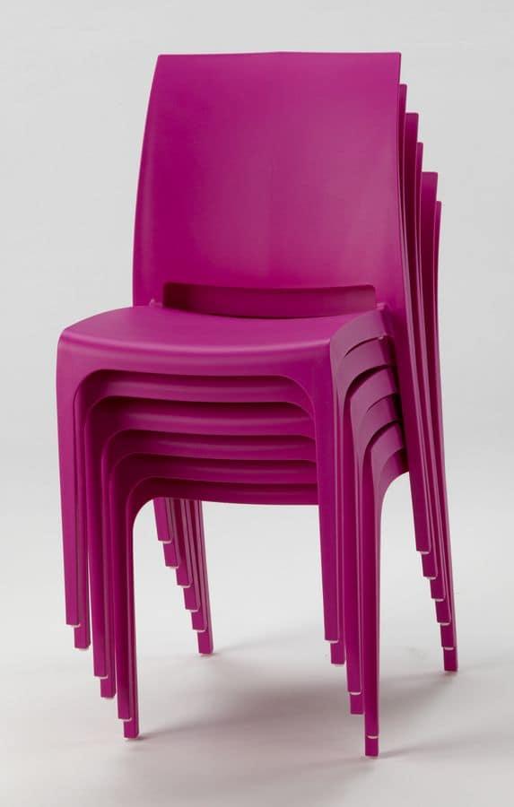 Sedia impilabile in plastica per esterni idfdesign for Sedie outdoor design