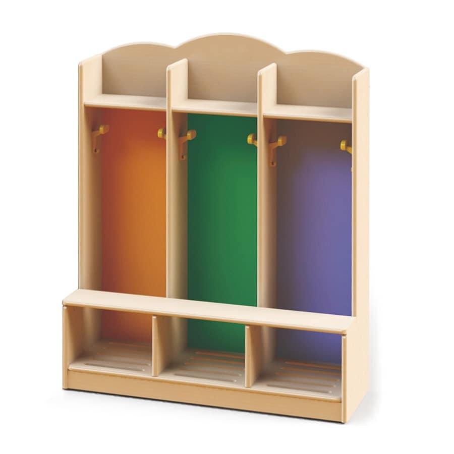 Spogliatoio per bambini per asili e scuole materne realizzato con vernici atossiche diversi - Mobili per bambini design ...