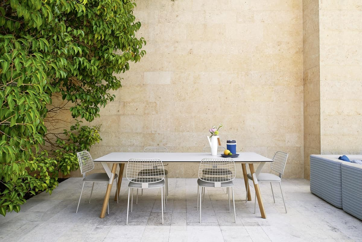 Summer set sedia, Sedia in tondino di acciaio, per bar e terrazzi