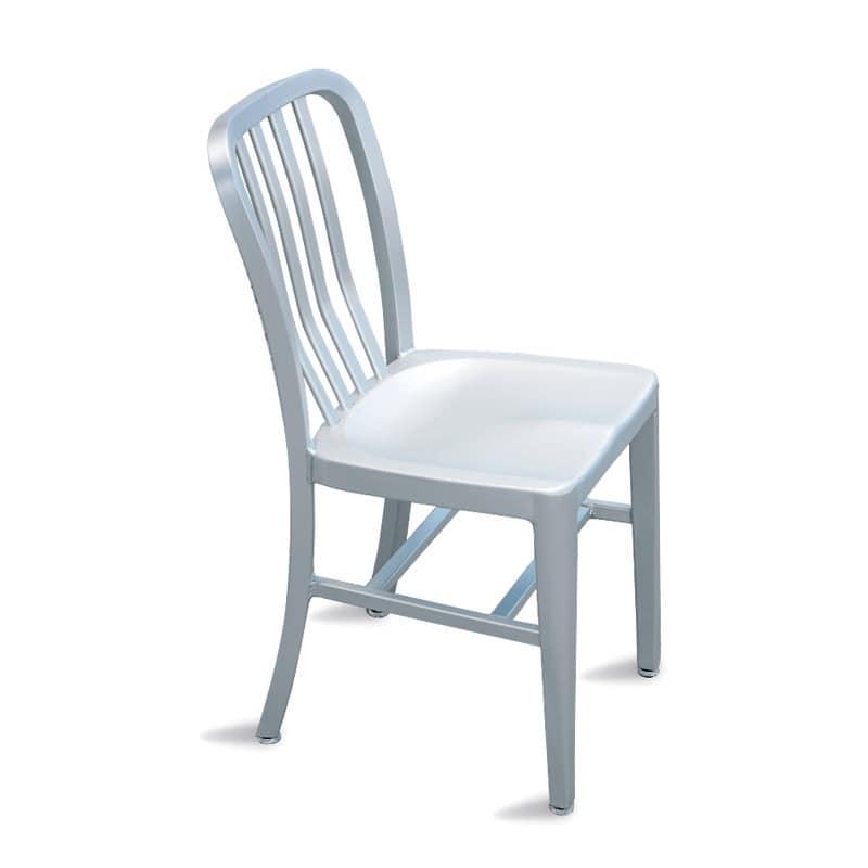 Trattoria sedia, Sedia leggera in alluminio per giardino e piscina