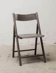 184, Leggera sedia pieghevole, in legno di faggio