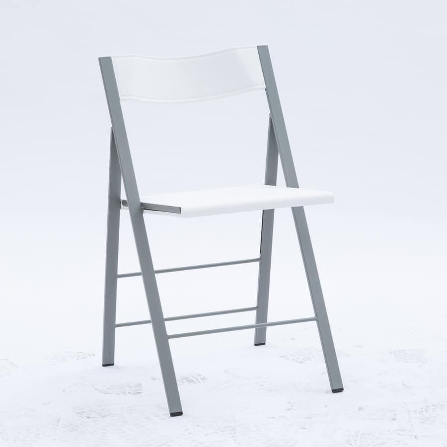 Sedia pieghevole in metallo e polipropilene comoda e for Sedia design comoda