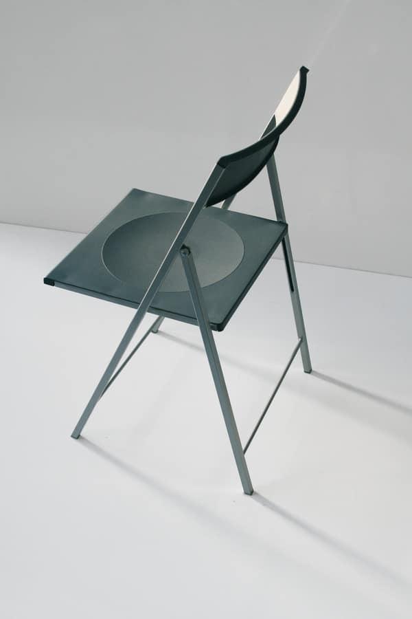 Sedia per cucina, pieghevole, in metallo e polipropilene  IDFdesign