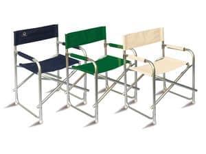 CHAP01, Sedia da regista in alluminio per uso esterno